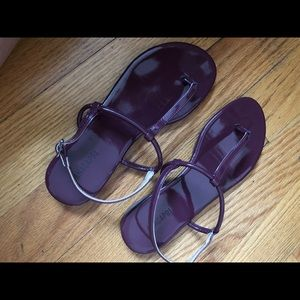 Burgundy summer Sandals